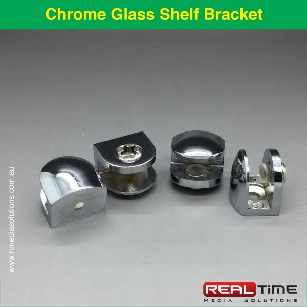 Chrome Glass Shelf Bracket-1