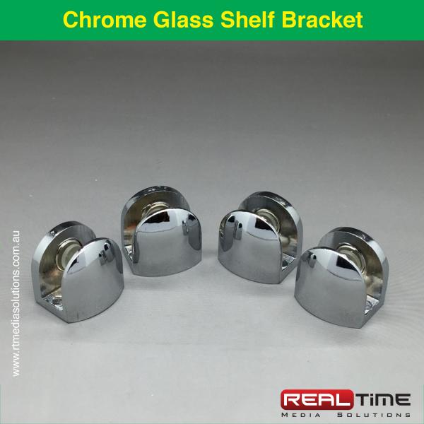Chrome Glass Shelf Bracket