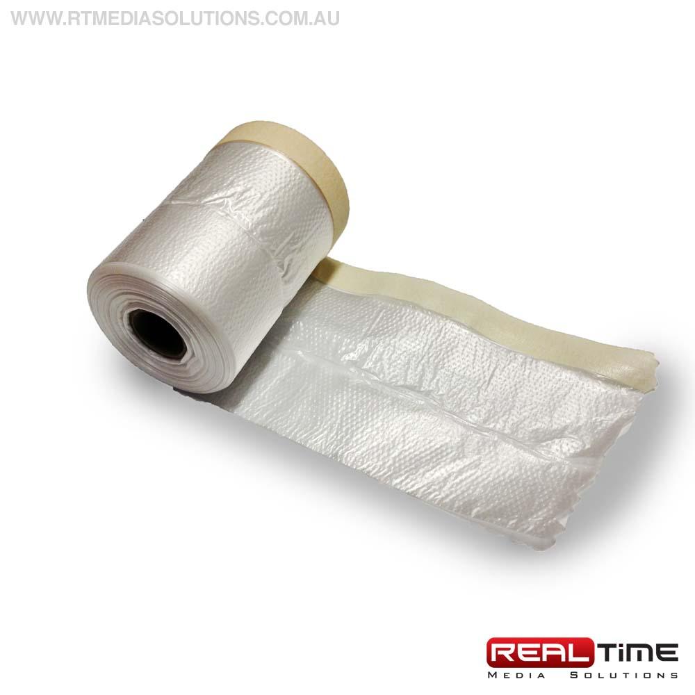 Pre-Taped Plastic Drop Cloth