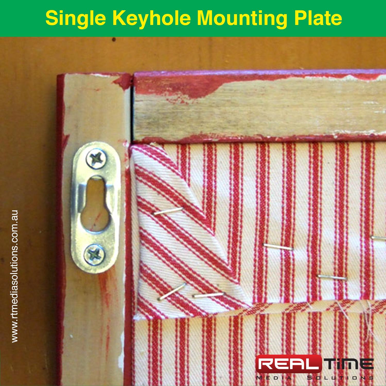 Single Keyhole Mounting Plate