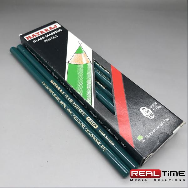 glass pencils Green