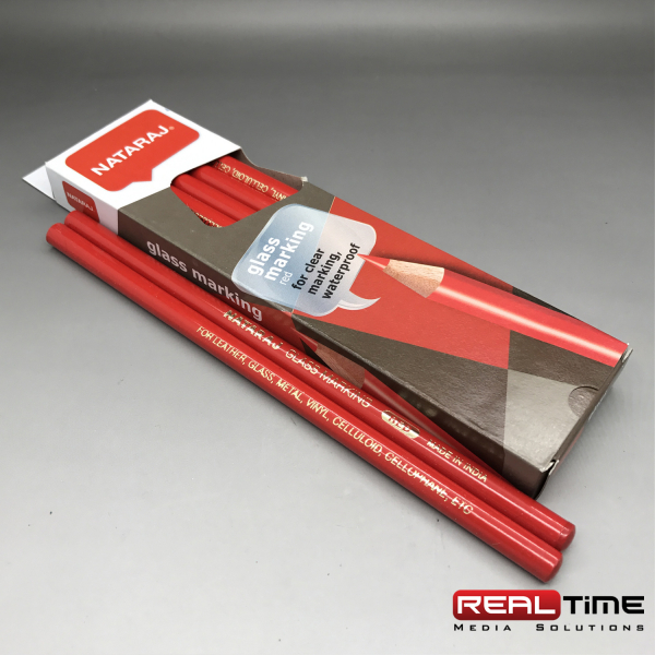 glass pencils red