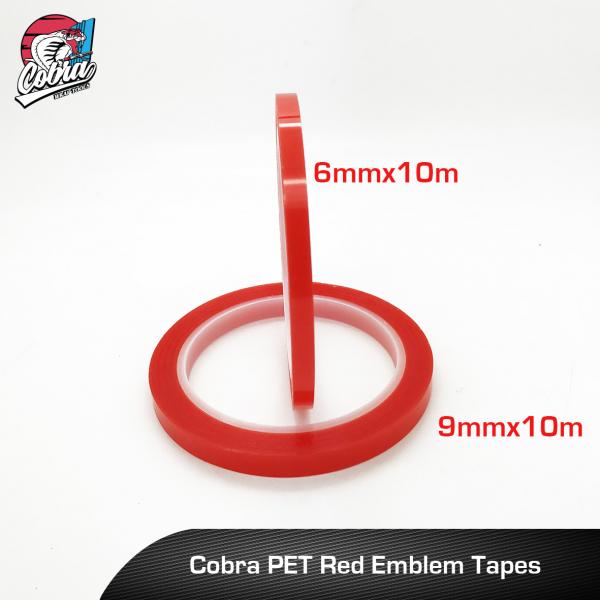 Cobra-PET-Red-Emblem-Tapes